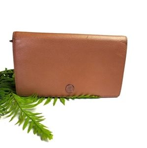 AUTH Chanel CC logo Copper Gold leather wallet